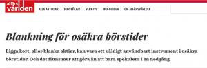 Blankning aktier Nordnet