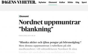 Nordnet blanka aktier