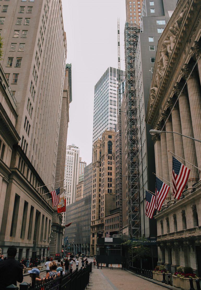 blanka amerikanska aktier - wall street