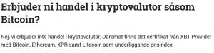 Handla Bitcoin Avanza